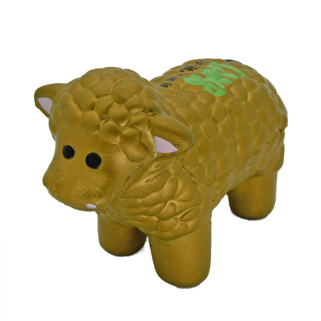 Golden Sheep Stress Ball
