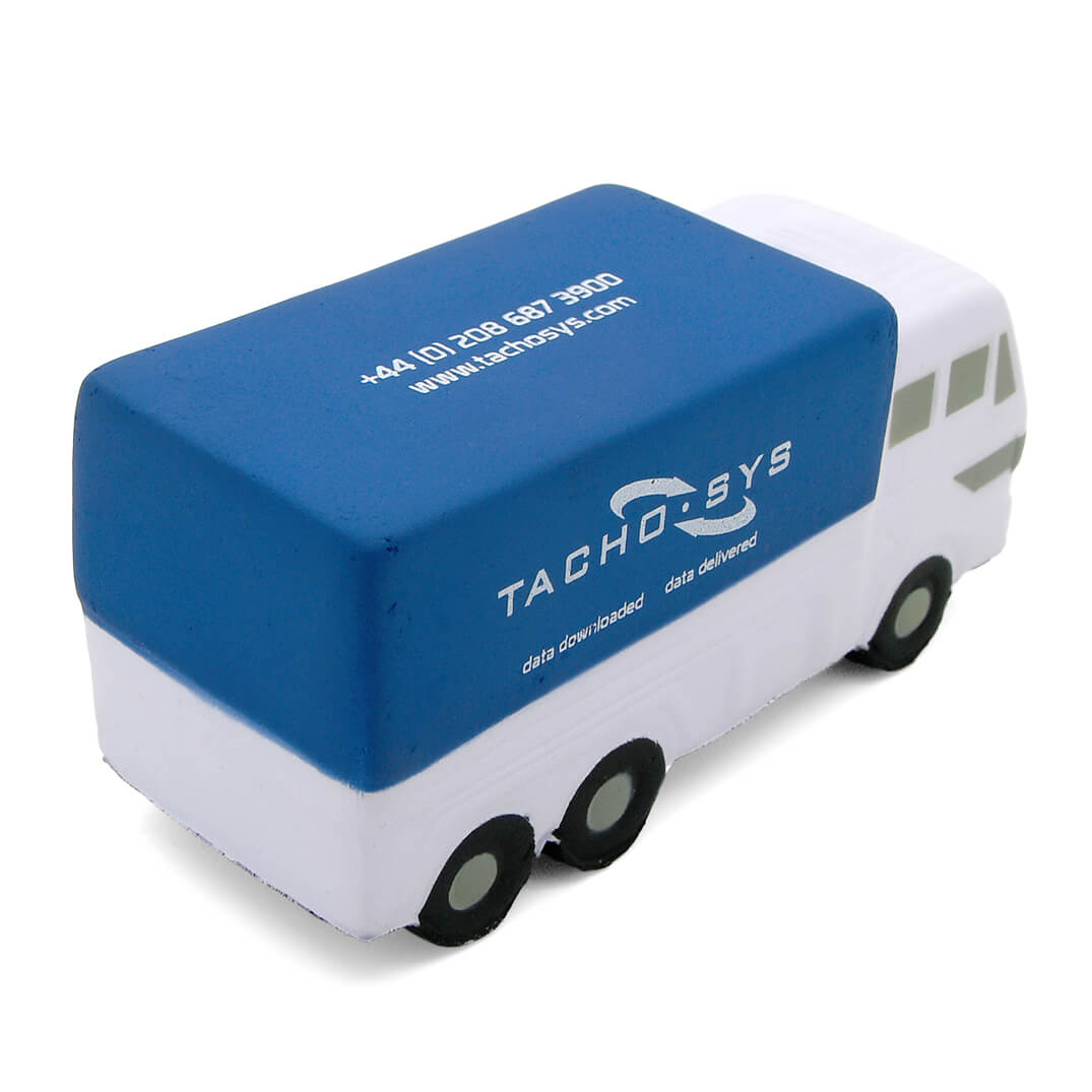 Blue Truck Lorry Stress Ball Alternate Rear View