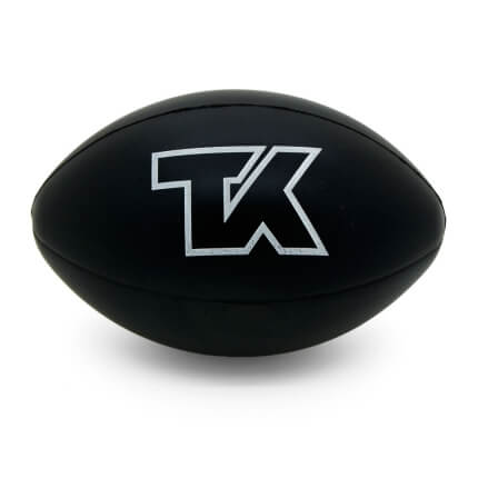 TeeKay Shipping Black Rugby Ball Front View
