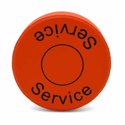 Channel 28 Orange Stress Hockey Puck Rear View