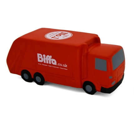 Red Biffa Stress Recycling Lorry Side View