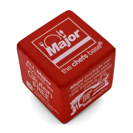 Major International Red 5cm Stress Cube