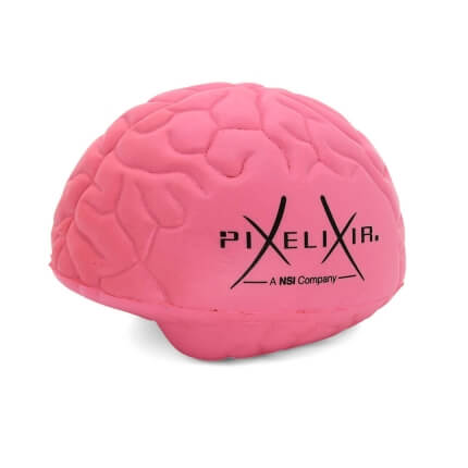 Pixelixir Large Pink Stress Brain
