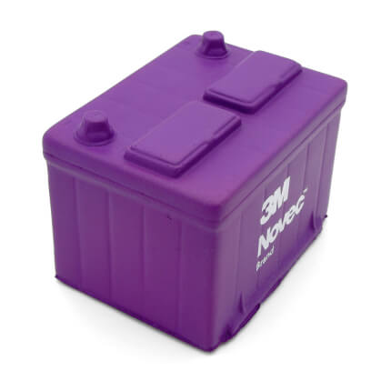 Purple Car Battery Stress Ball Side View