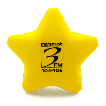 Yellow Stress Star Front View