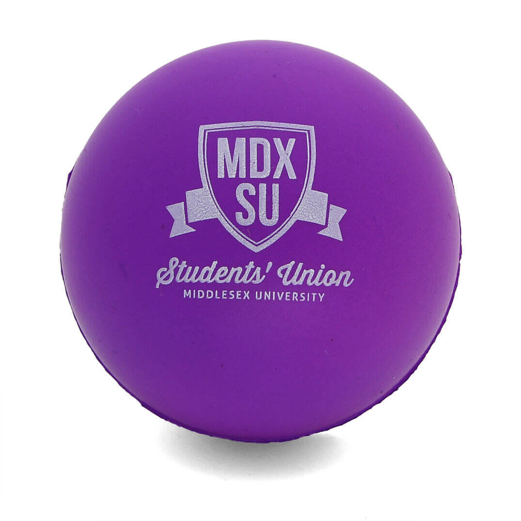 Middlesex University Students Union Purple 60mm Stress Balls