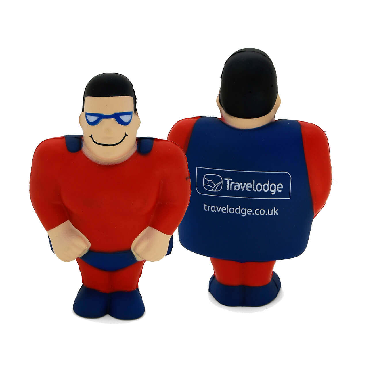 Travelodge Printed Stress Super Hero Front and Rear