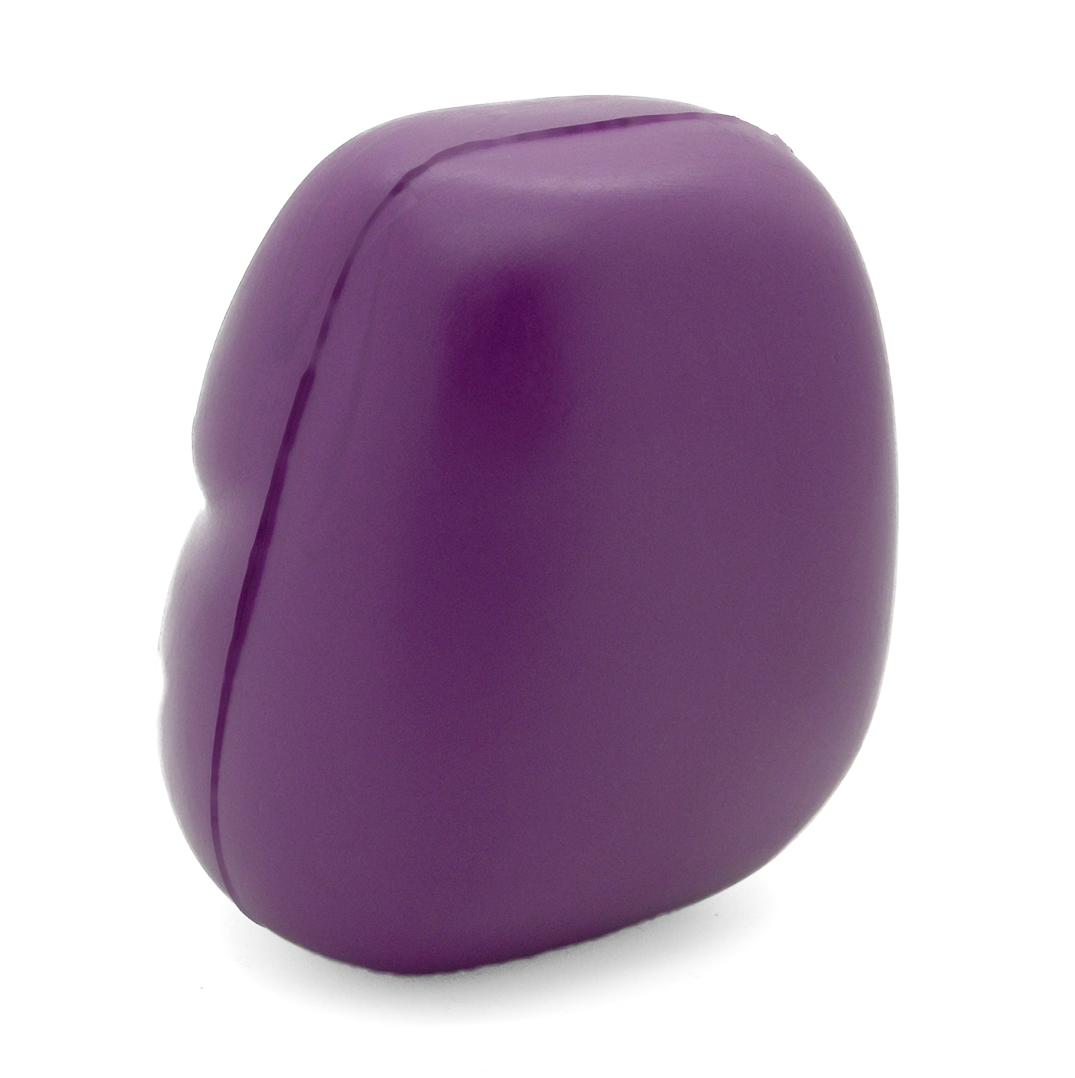 Purple Belly Stress Ball Without Hairs Back View