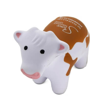 Stress Cow in Brown and White Front View