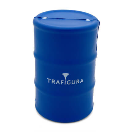 Blue Oil Drum Stress Ball Front View