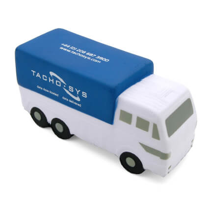 Blue Truck Lorry Stress Ball Side View