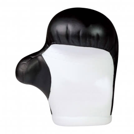 Boxing Glove Stress Ball Front View Black and White